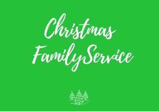 CHRISTMAS FAMILY SERVICE | 16th Dec |10.30am